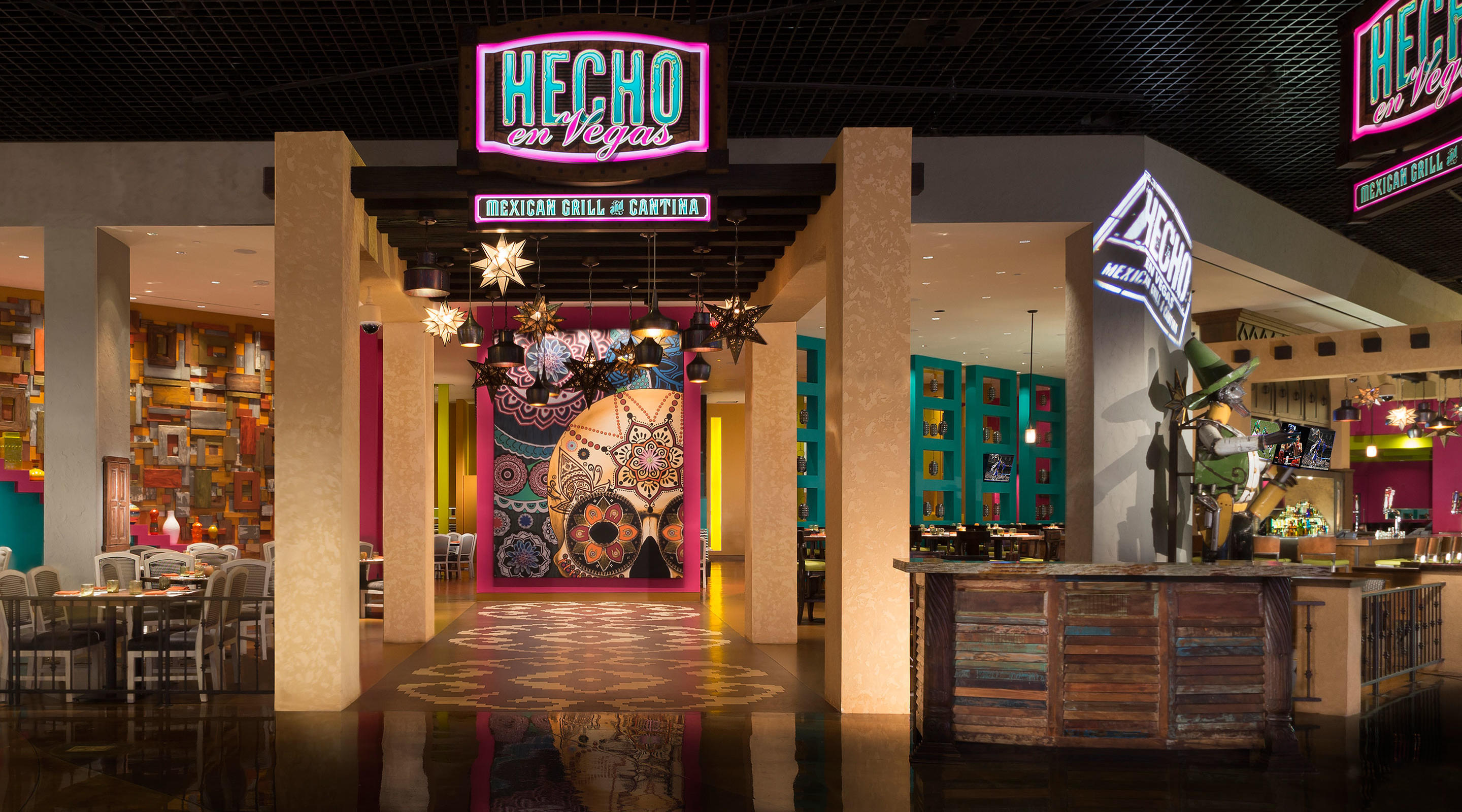 The entry to Hecho en Vegas at MGM Grand