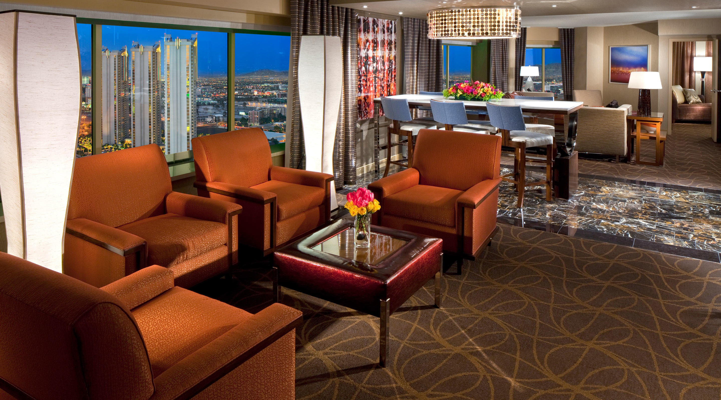 Skyline marquee suite mgm resorts for Used hotel furniture las vegas