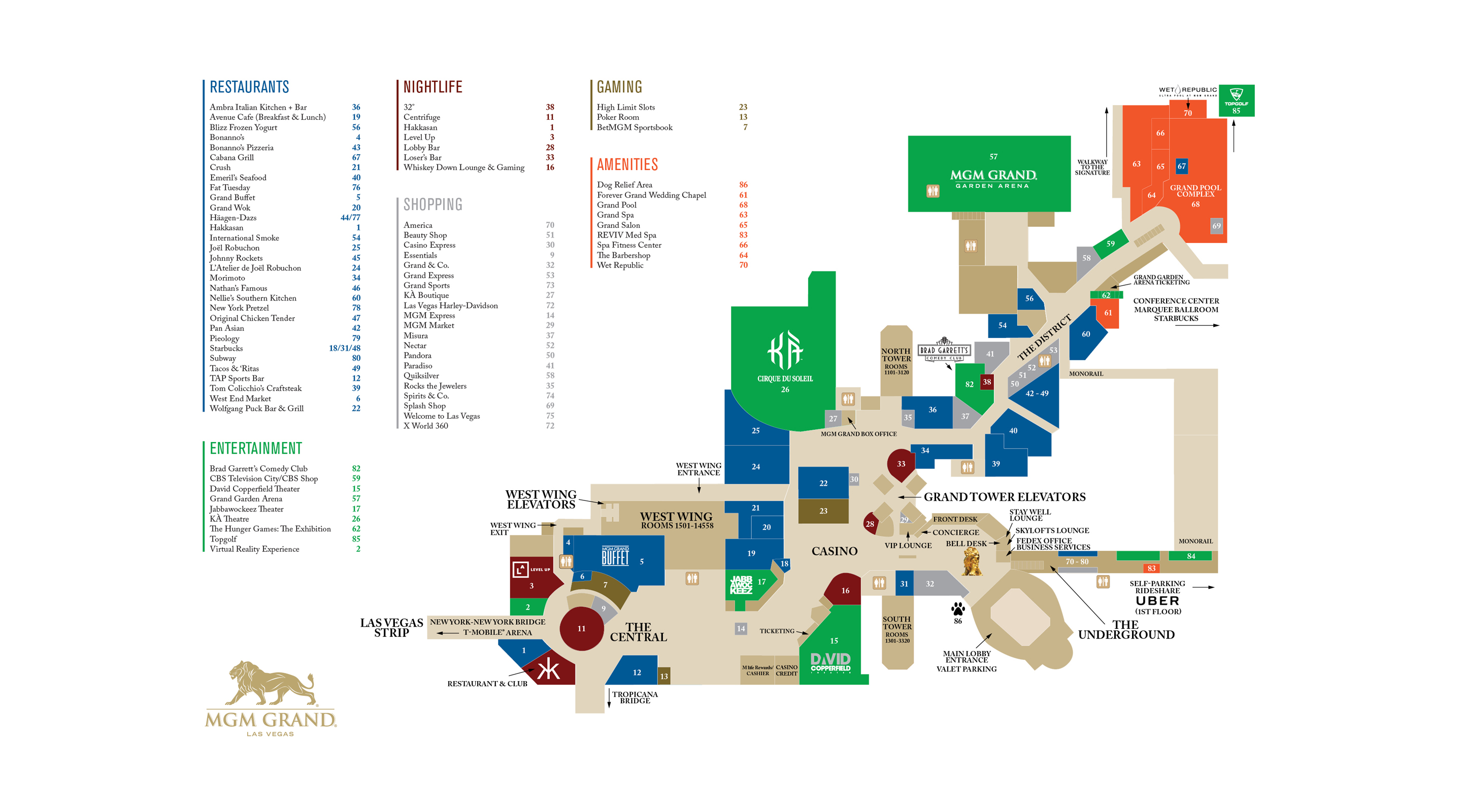 Mgm Grand Floor Plan Map | TheFloors.Co