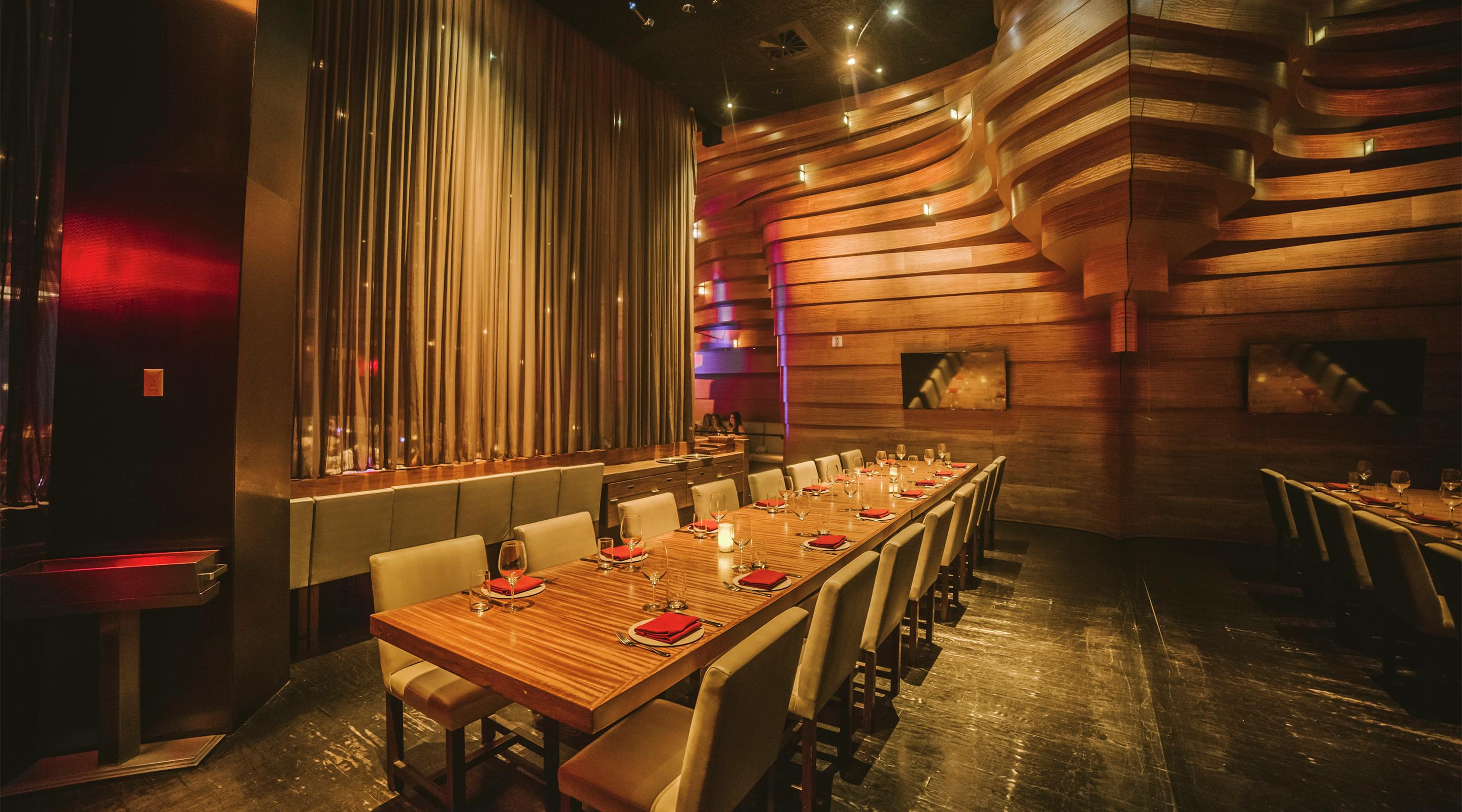 The private dining room at Stack Restaurant & Bar.
